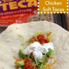 easy chicken soft tacos