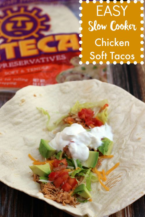 Check out this healthy and very easy slow cooker chicken soft tacos recipe. Get this yummy meal on the table in no time at all.