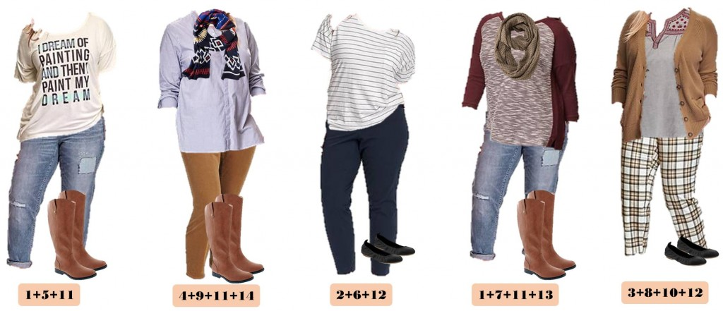 I love this new Old Navy plus size capsule wardrobe fall. It includes fun plaid pants, a graphic tee, and cozy cardigans. This set has just 15 pieces including 2 pairs of shoes. Plus Old Navy is so reasonable priced that you can buy it all and be set for all your fall casual looks!