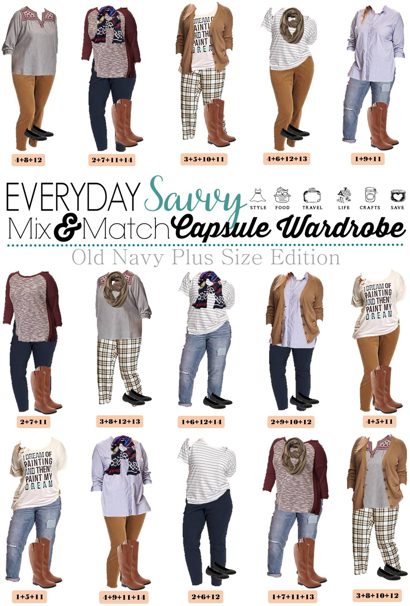Old Navy Plus Size Capsule Wardrobe Fall