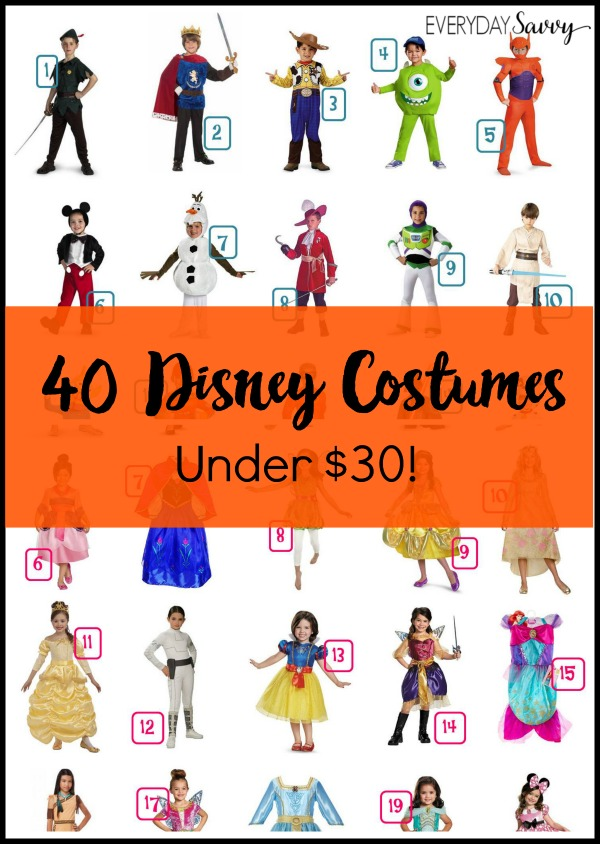 Check out these 40 Disney Halloween Costume Ideas. Each is under $30 and many are  sc 1 st  Everyday Savvy & Life As Mom - 4/7 - Everyday Savvy