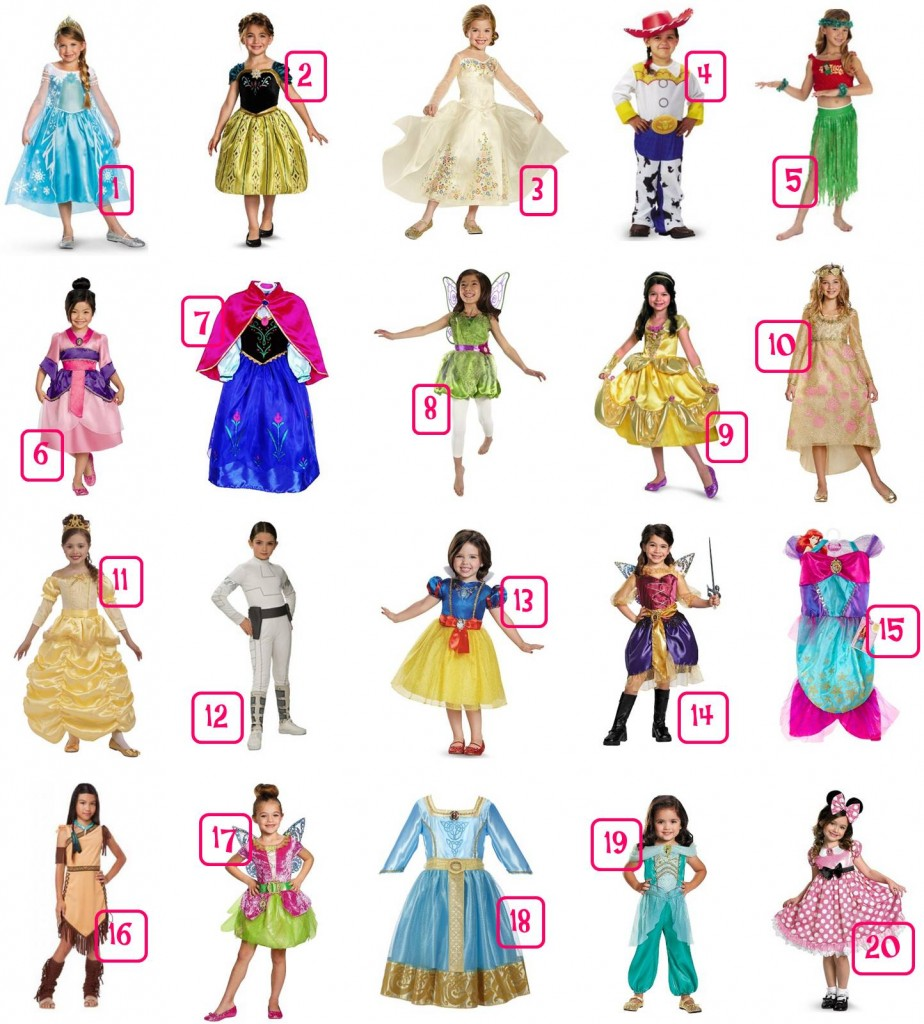 Check out these 40 Disney Halloween Costume Ideas. Each is under $30 and many are under $20. Many include free shipping or free in-store pick up. Great for dress up too!