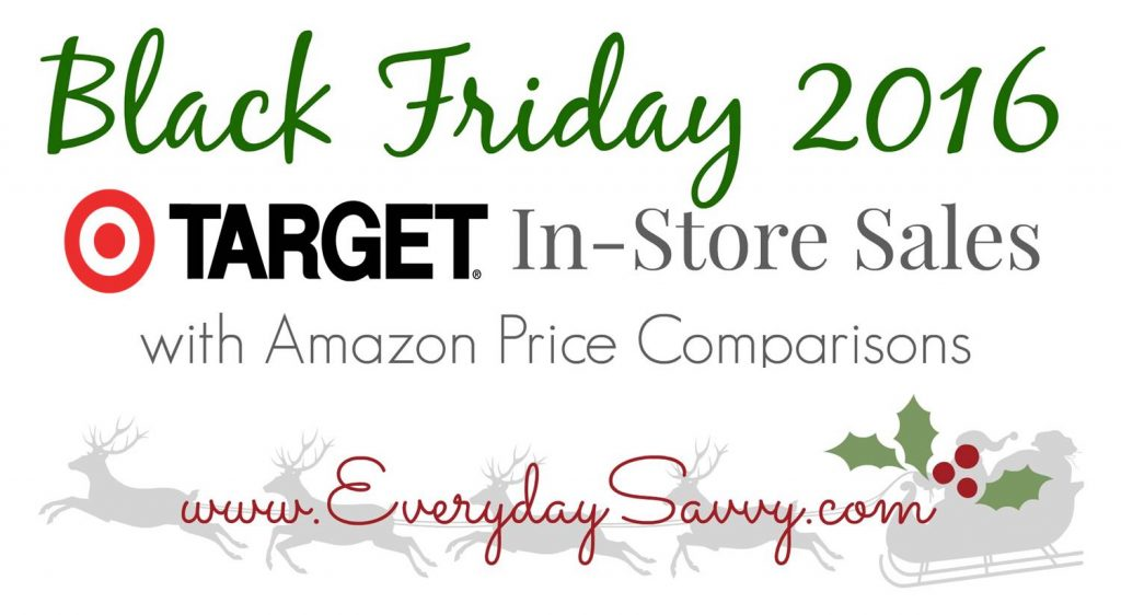 Top 2016 Target Black Friday Sales & Amazon Price Comparisons - See what is on sale at Target for Black Friday and whether Amazon is price matching Target.
