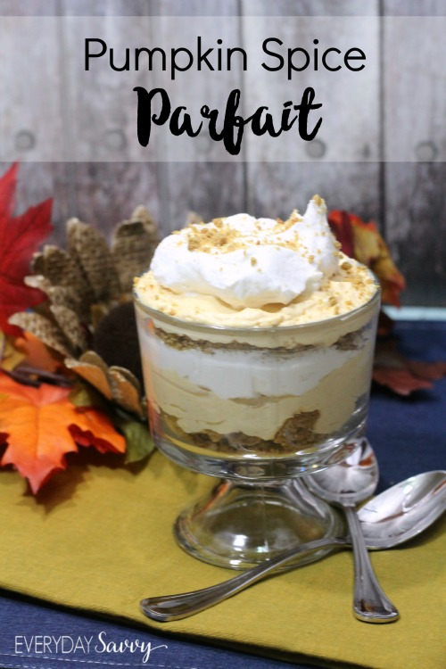 This pumpkin parfait makes an amazing fall recipe. It is easy to make but looks so fancy! It would be a great ending for Thanksgiving dinner or any other fall occasion.