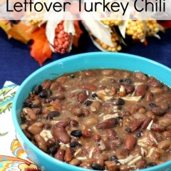 slow cooker leftover turkey chili