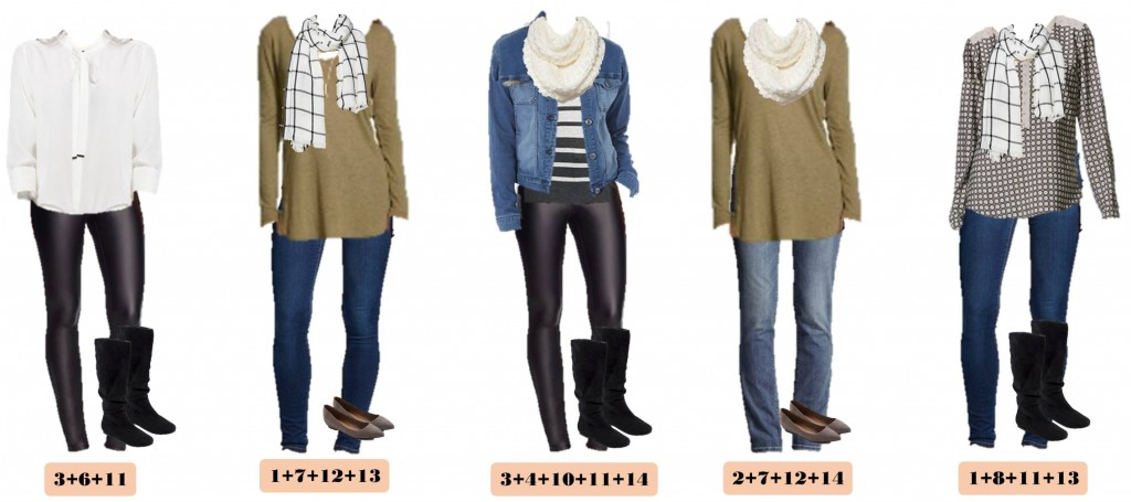 Here is a new Target Winter Capsule wardrobe. I love the cozy sweaters and scarves. The plaid blanket scarf is so cute! You can look great in these casual outfits with jeans or step it up a notch with black ponte faux leather pants. These pieces mix and match for 15 great outfits that will have you looking great this winter. This making getting dressed each morning easy!