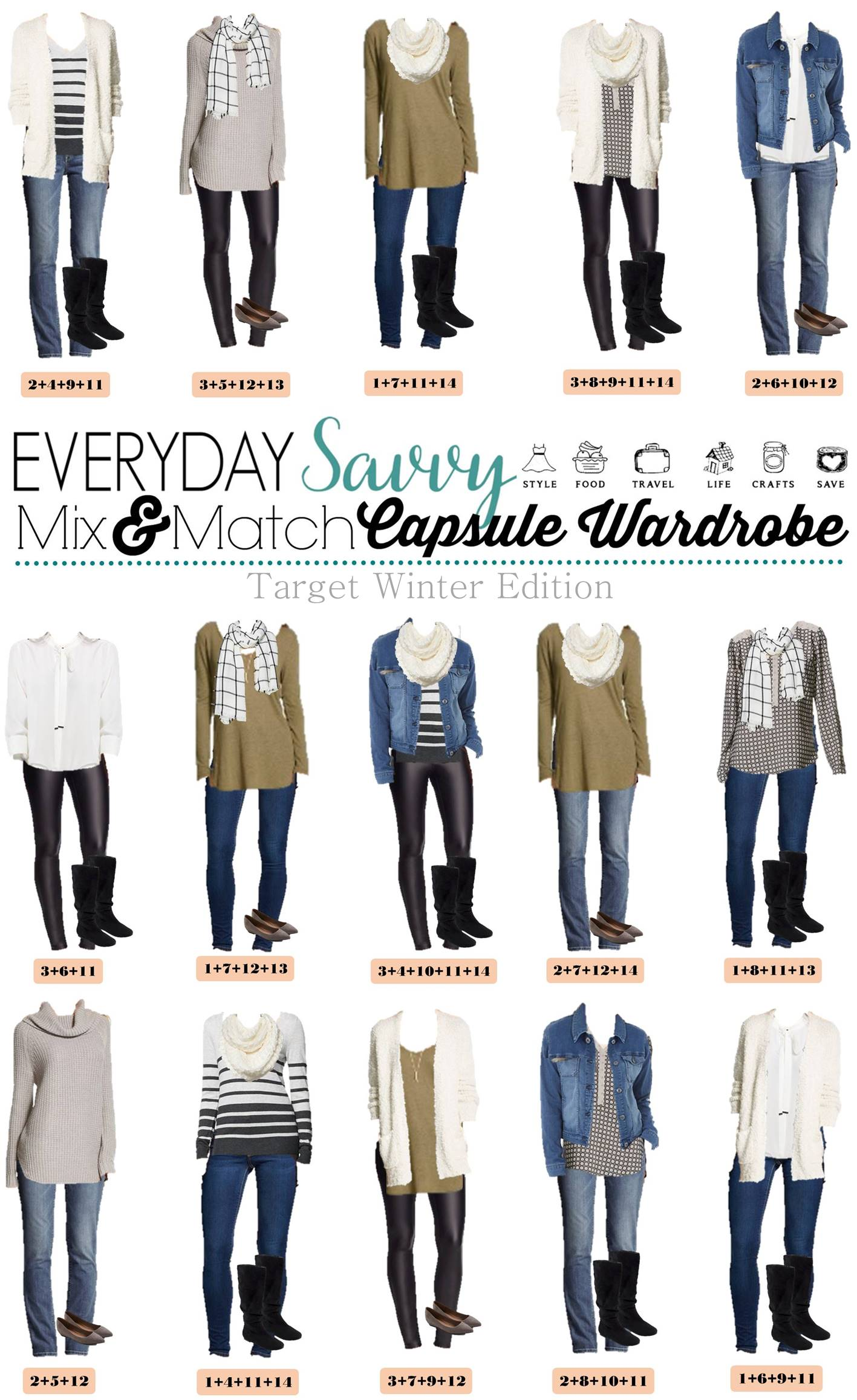 Tar Winter Capsule Wardrobe Mix and Match Everyday Savvy