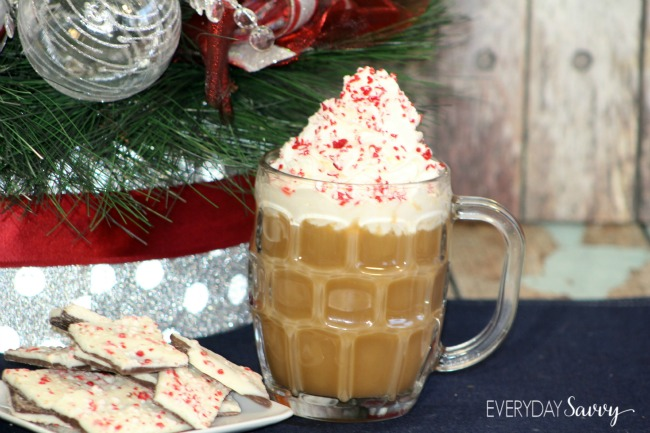 I am a sucker for coffee drinks but buying them at the coffee shop can get expensive quick. You can get the same taste with our peppermint mocha recipe that you can make at home for much much less. You can make it just as fancy with whipped cream and crushed peppermints too! It really is very simple to make and you can make just one or multiply the recipe to make peppermint mochas for a crowd.