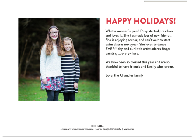Check out these 6 Reasons to Order Minted Holiday Cards. Not only are they an amazing product they even make the process easy for you.