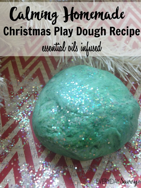 Here is great Homemade Christmas Play Dough Recipe that uses essential oils to give a calming effect. There is so much activity and stimulation at Christmas time that your kids can easily get overwhelmed. This essential oils infused play dough can help.