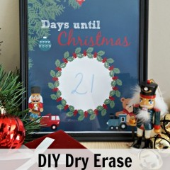 diy countdown to christmas project