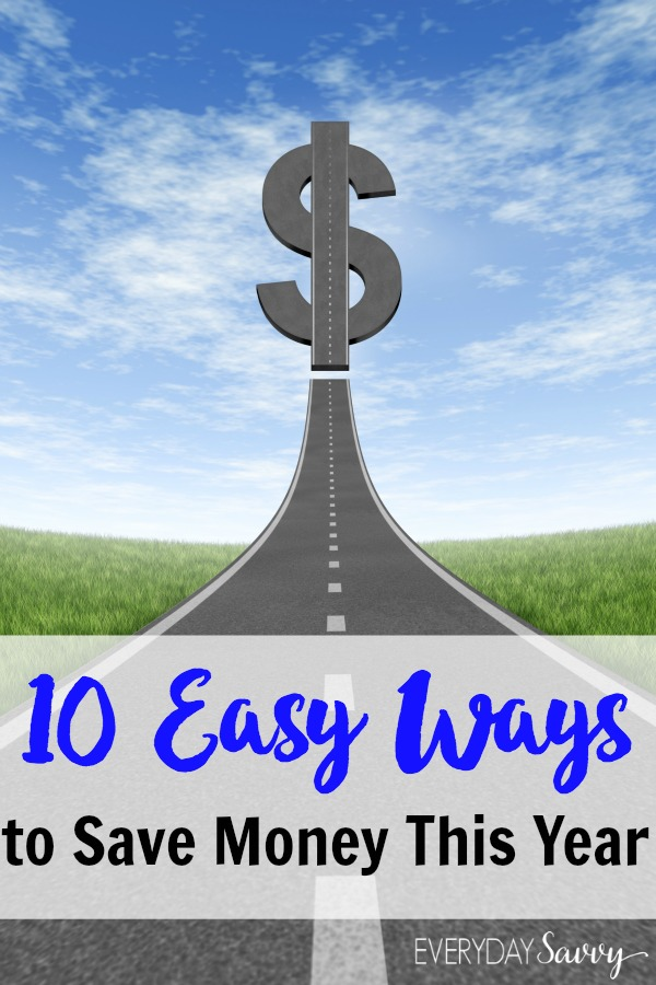 Here are 10 easy ways to save money this year. You can easily save $1000 or more with these simple spending changes and you can save money fast. Spend less of your money on what you have to buy and more on the things you want.