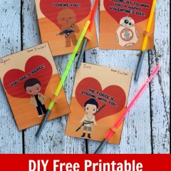 DIY free printable star wars valentine