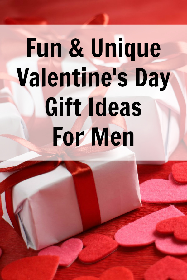 Great list of unique valentine gift ideas for men. We include ideas at many price points so you find just the right gift for the guy in your life.