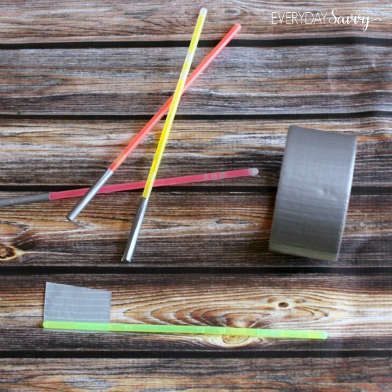 How to make lightsabers out of glow sticks and duct tape
