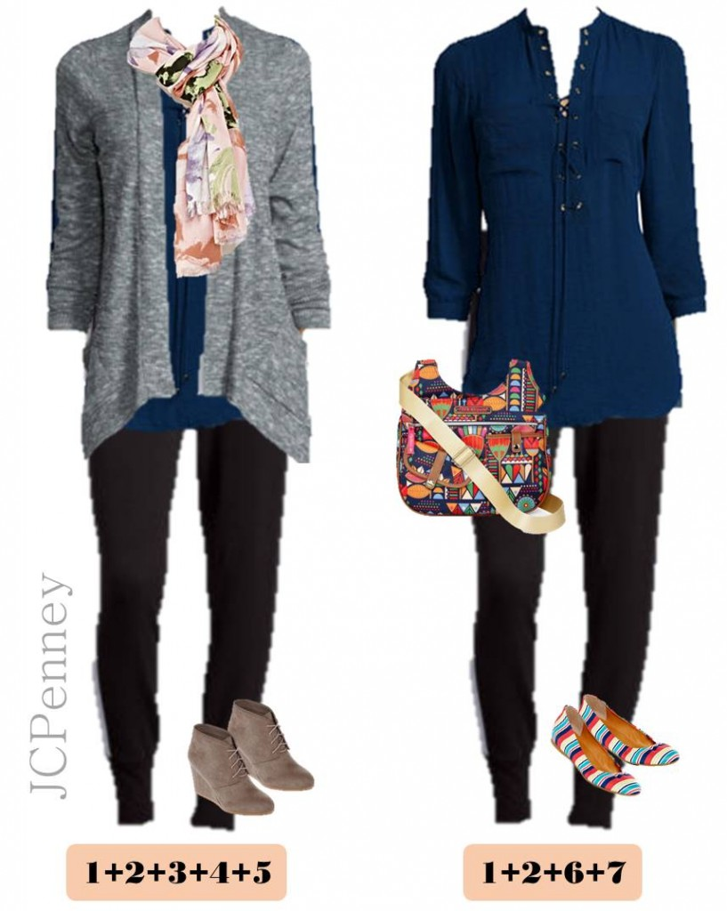 2.15 Capsule Wardrobe - Transition Winter to Spring JCPenney