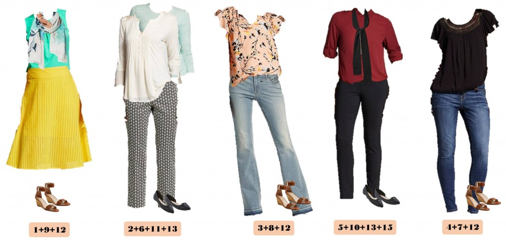 Target Spring Capsule Wardrobe Mix And Match Outfit Ideas