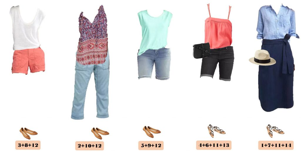 Check out the new casual summer outfit ideas in this Gap summer capsule wardrobe. I love the easy wrap skirt, coral accents and fun prints.