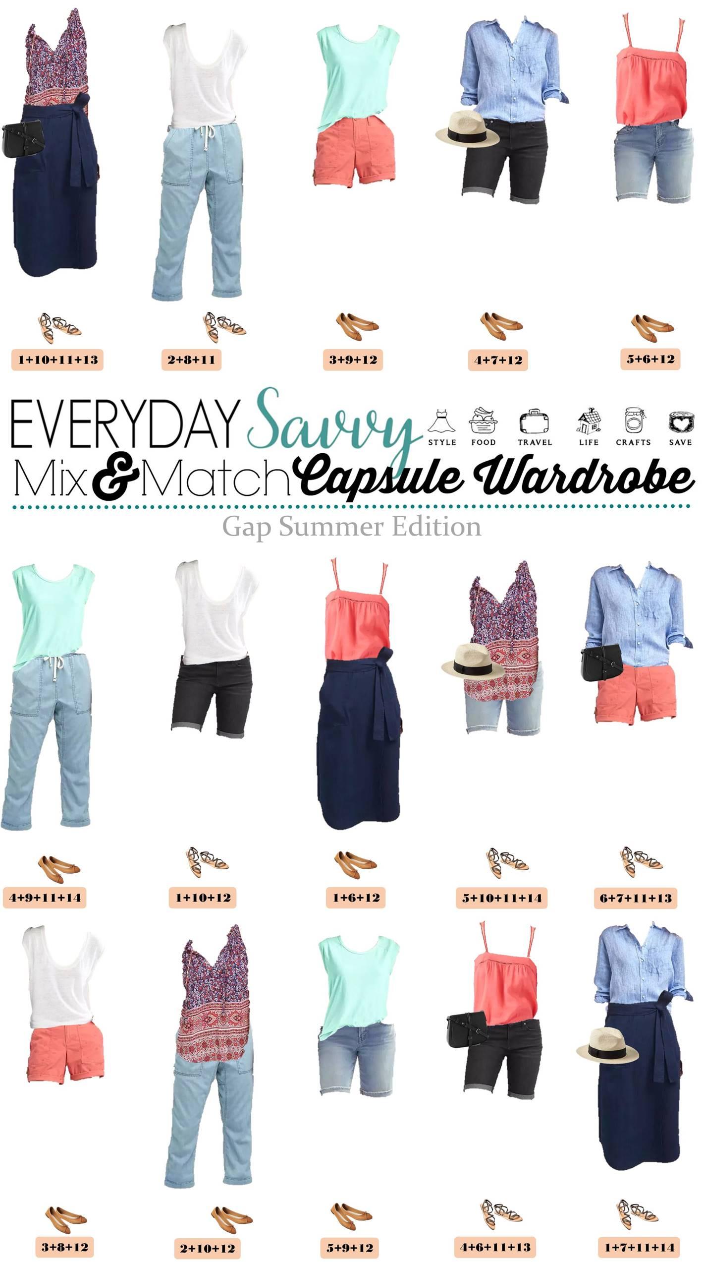 Gap Summer Capsule Wardrobe