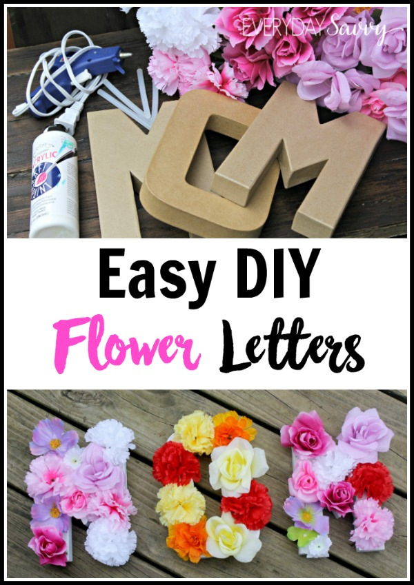 These easy DIY flower letters are a fun craft you can do with your older kids as DIY gift. Spell out a word, name, initial, or monogram. Includes tutorial