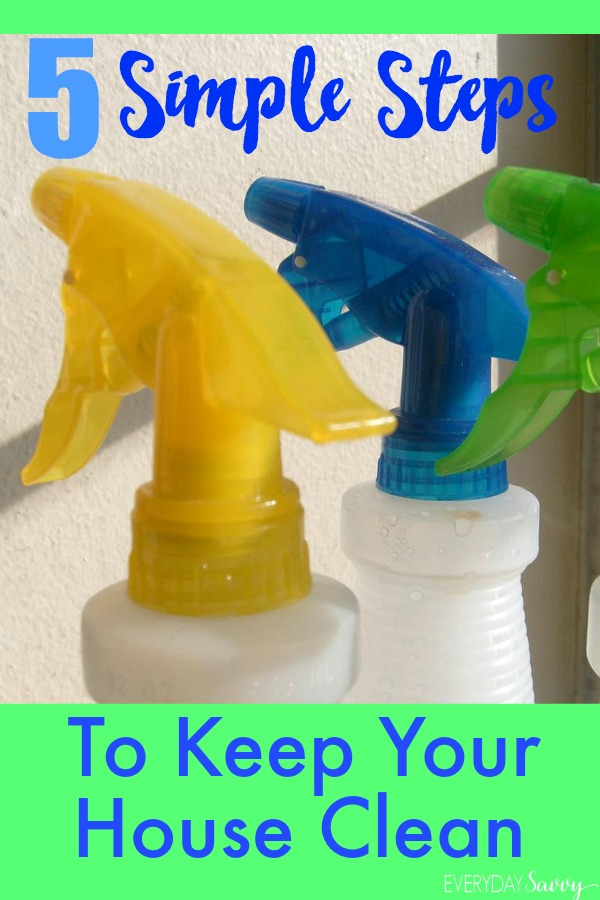 Wondering how to keep a house clean? These 5 simple steps can help you keep your house clean everyday.