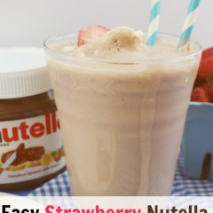 strwawberry nutella smoothie