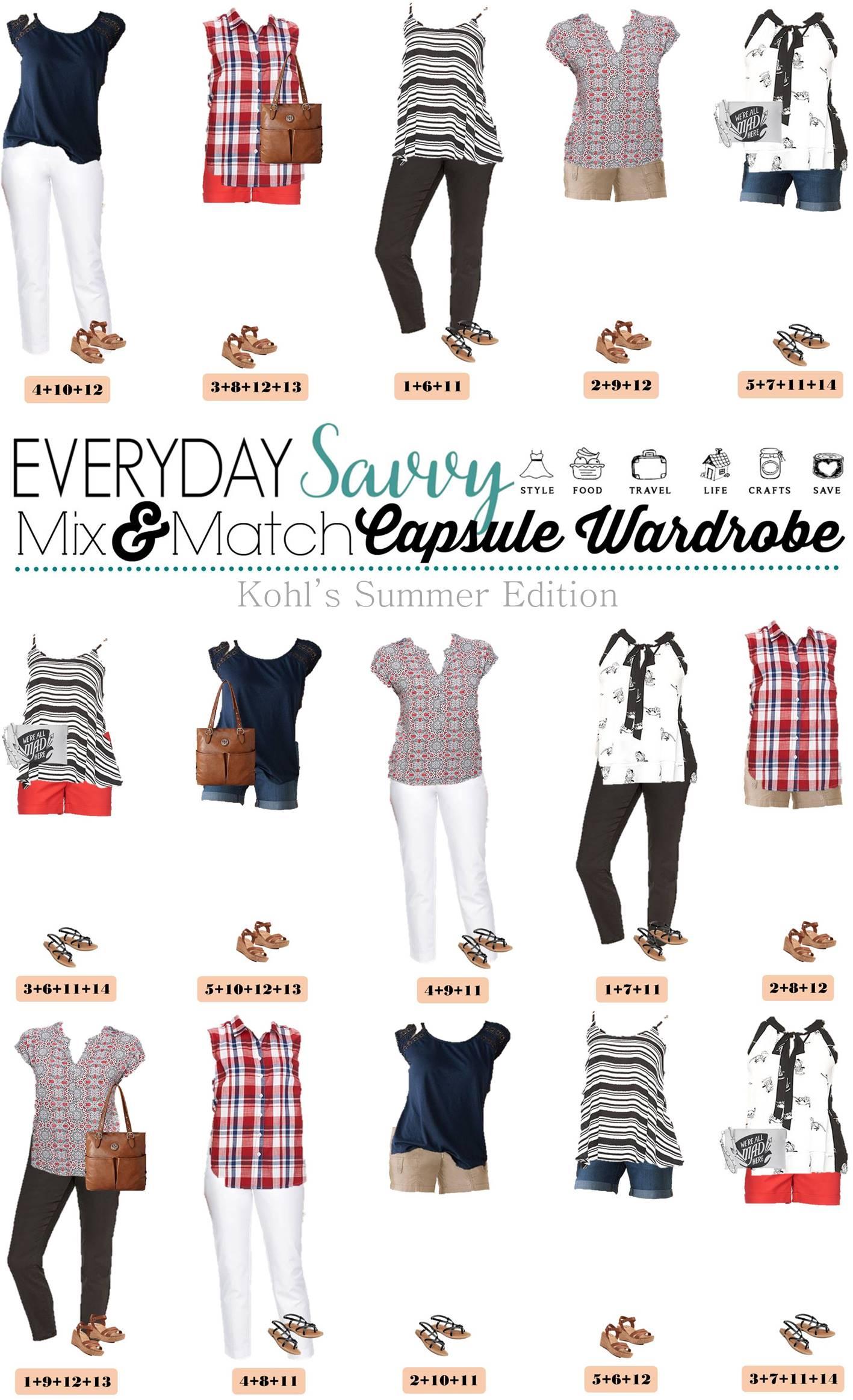 Kohls Summer Outfits Mix Amp Match Style
