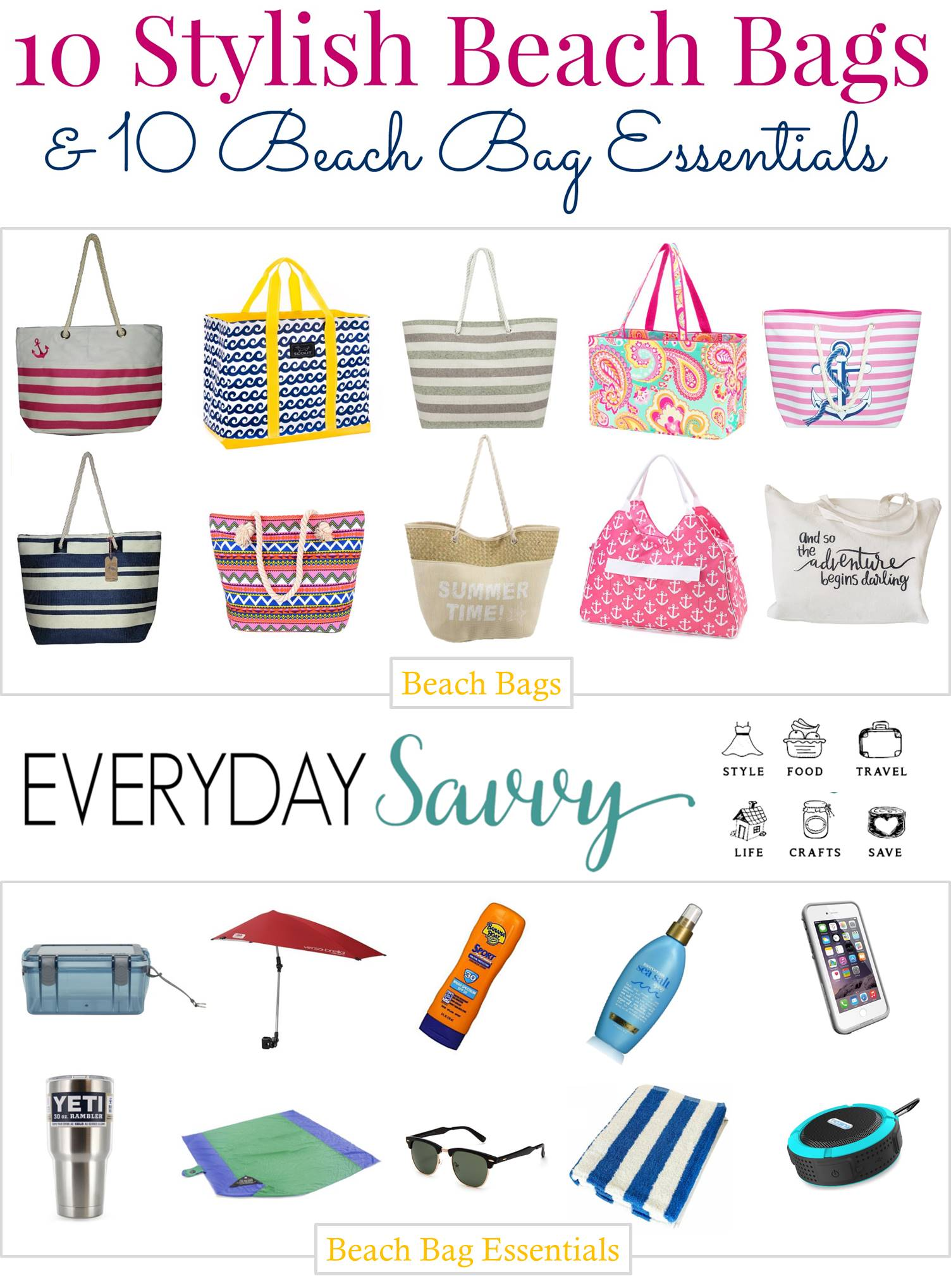 Cute Beach Bags & Beach Essentials