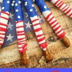 Patriotic Snacks – American Flag Pretzels