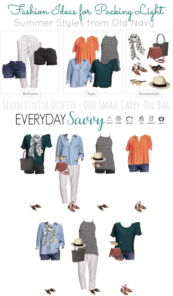 Check out this fun summer travel capsule wardrobe that you can use to travel light. All the pieces will fit in a small carry-on bag.