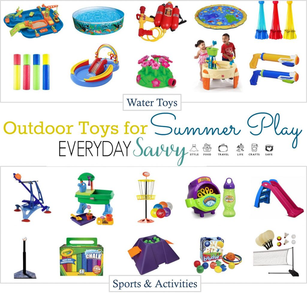 Having your home stocked with a few fun outside toys for kids can help you keep your kids moving and having fun this summer. It is easy to get caught up in electronics but these outdoor toys can help bring back the fun of being outside this summer.