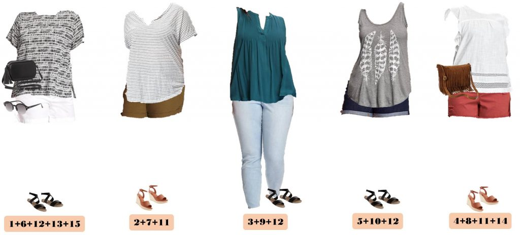Check out this fun Old Navy Plus Size Capsule Wardrobe for summer. It includes colored shorts, cute tees and even a fringe crossover bag! Get set for summer with this style collection.