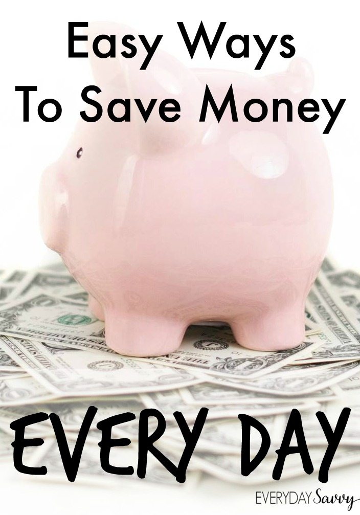 Getting on a budget and saving money can be overwhelming. Start small with a few easy ways to save money every day! Most of these are very simple changes that have a real impact on your bottom line without changing the quality of your life too much.