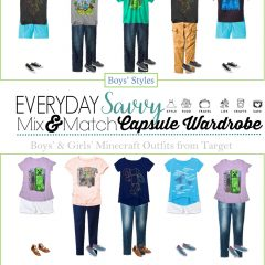 7.22 Mix & Match Childrens Fashion - Minecraft Styles from Target VERTICAL EVERYDAYSAVVY