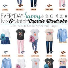 7.26 Capsule Wardrobe - Back to School Girls Styles from Target VERTICAL