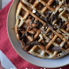chocolate almond waffles