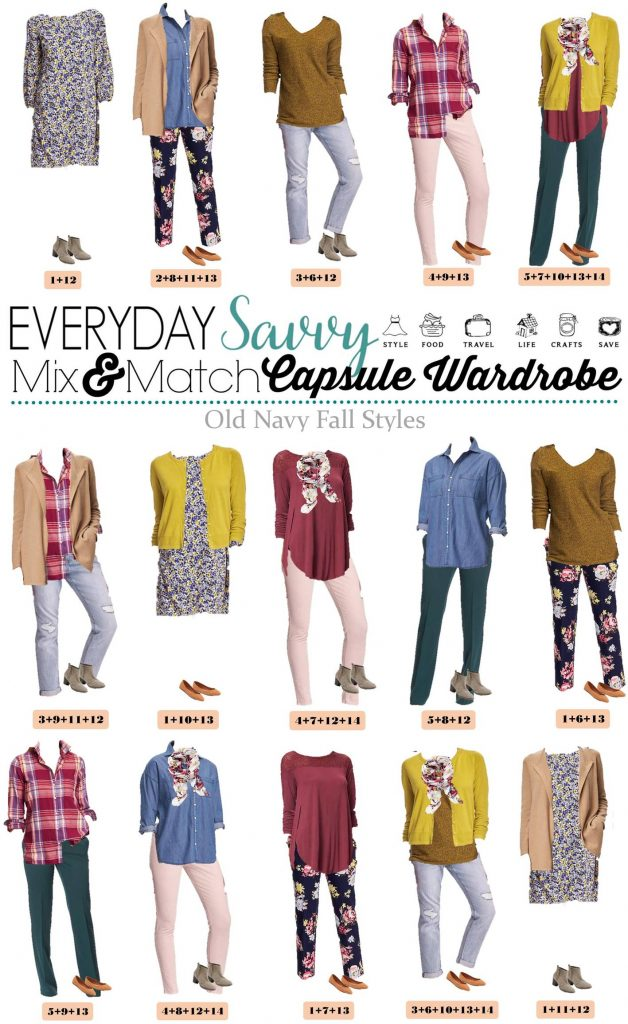 Fun new Old Navy Capsule Wardrobe. It includes fun prints and rich warm colors. All very reasonably priced. You will be ready for fall with this fun fall capsule collection.