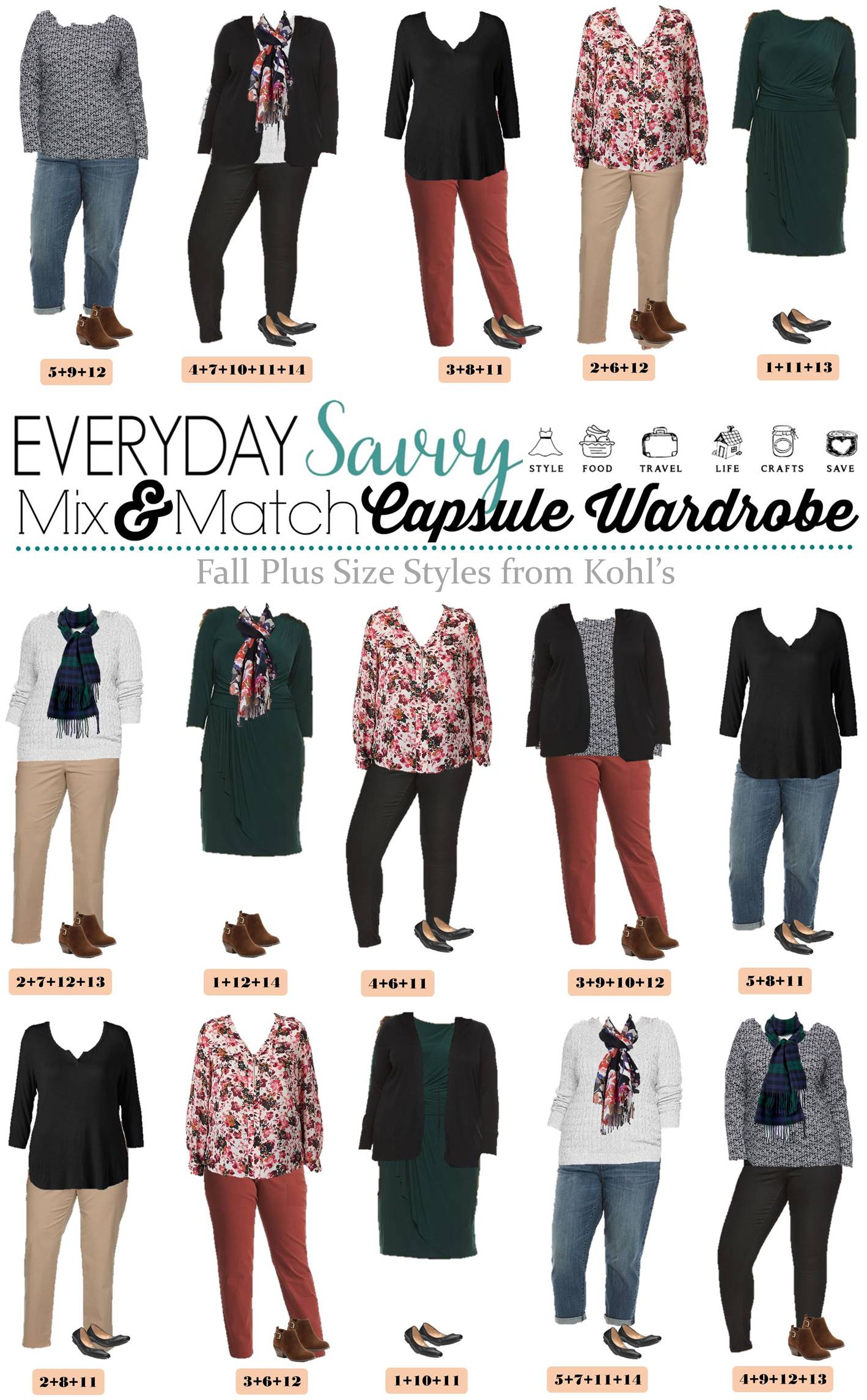 Fall Plus Size Outfits From Kohls Mini Capsule Mix Amp Match