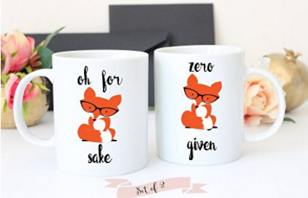 Oh for Fox Sake and Zero Fox Given Coffee Mug