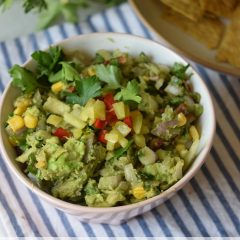 spicy pico de gallo guacomole