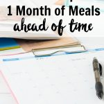 Once a Month Meals – Meal Planning Tips