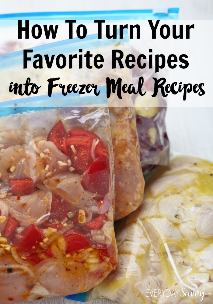 Are you considering freezer meals as a great way to save time and money in the kitchen?  If so, you may be wondering if you are stuck with using only specified freezer meals.  The truth is, almost any recipe can be turned into a freezer meal with the right tips.  Click through to see the tips now.