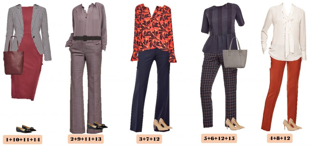 Ann Taylor Business Casual Capsule Wardrobe Outfits For Work