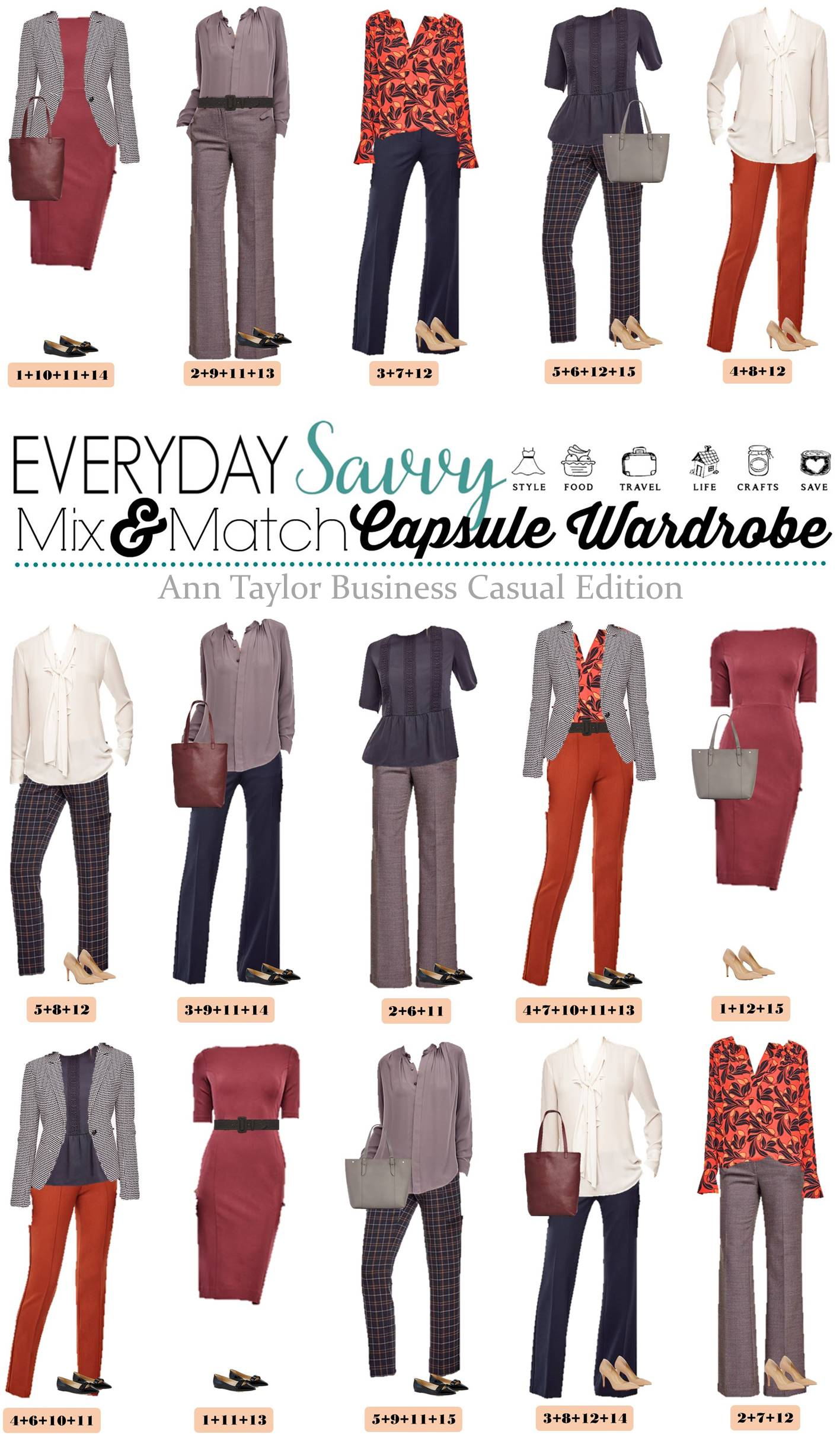 ann taylor business casual capsule wardrobe. Black Bedroom Furniture Sets. Home Design Ideas