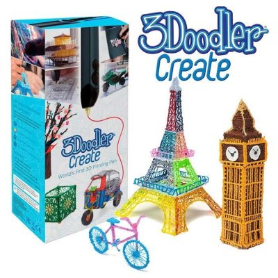 3Doodler Create 3D Pen with 50 Plastic Strands, No Mess, Non-Toxic