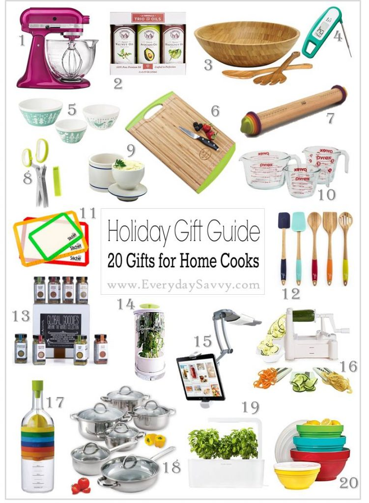 Here are some Unique Gift Ideas for People Who Love to Cook. Check out all the ideas at many different price points. You can find just the right gift for the home cook. Everything from retro pyrex to a vegetable slicer and butter keeper.