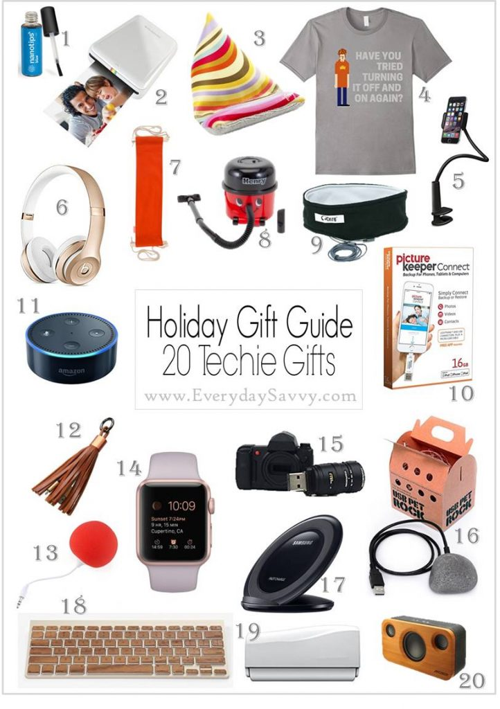 Looking for fun tech gift ideas? Check them out here. These gift ideas come in many different price points so you can find just the right tech gift.