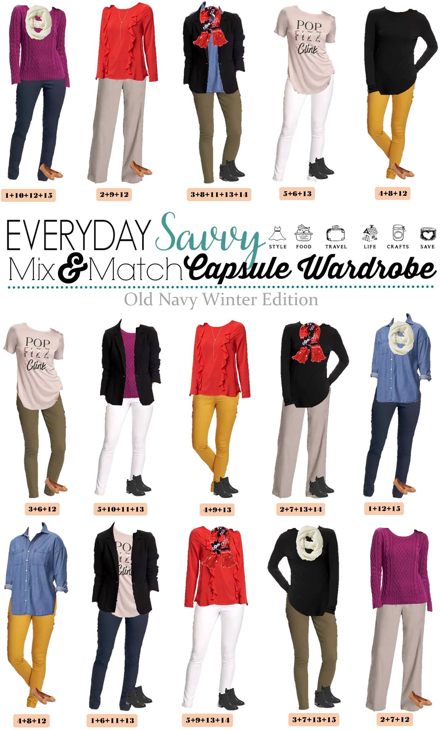 Mix Amp Match Winter Outfits From Old Navy Mini Capsule