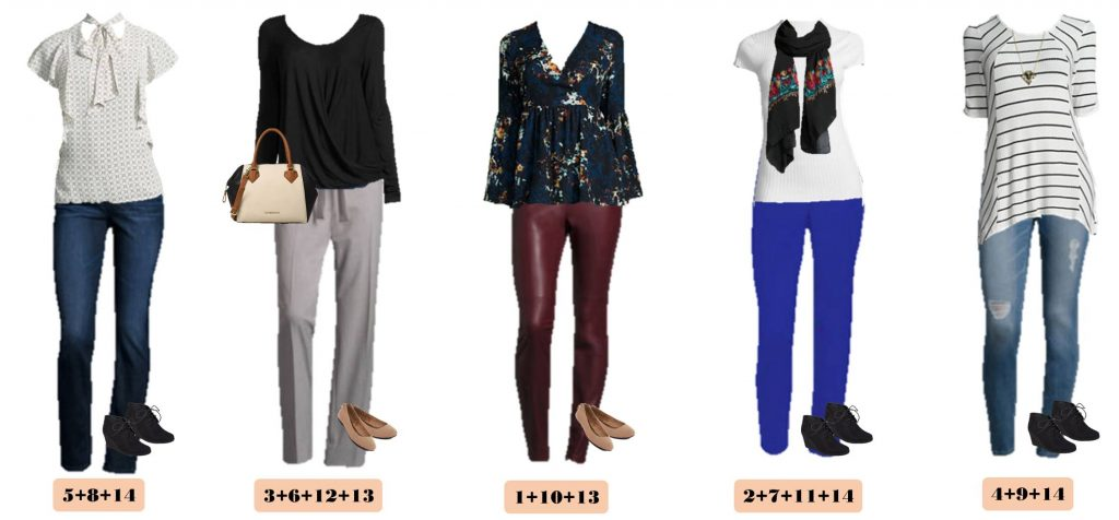 Check out this JCPenney capsule wardrobe that works great in the winter but will also easily transition to spring. 15 mix & match outfits included.