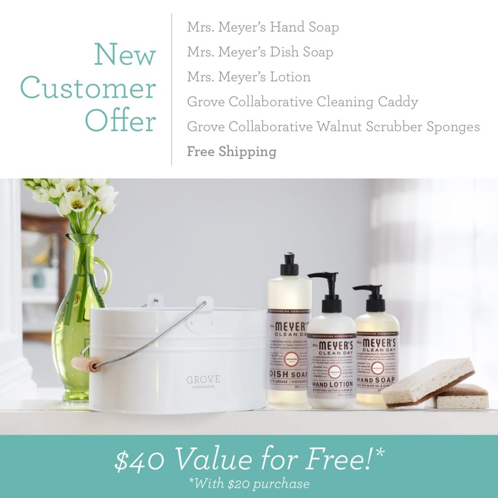 Grab a free Mrs Meyers Cleaning Supplies & Start Off The Year Right. Delivered right to your home & make it easy to keep your home clean.